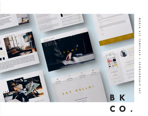 Media Kit Template   Pages  Press Kit  Cover Letter  Ad Rate