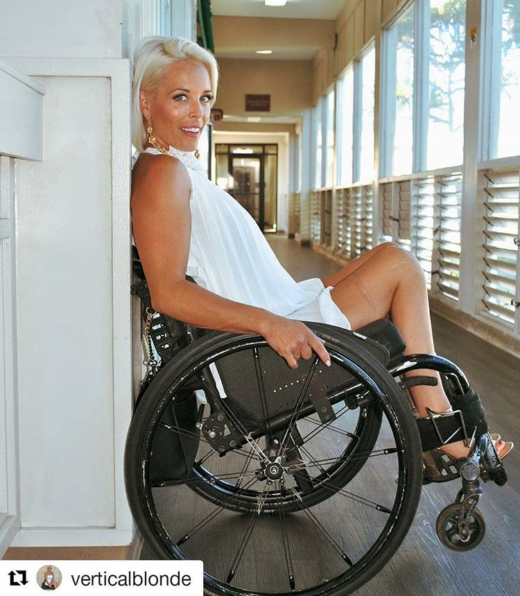 Wheelchair sexy girl