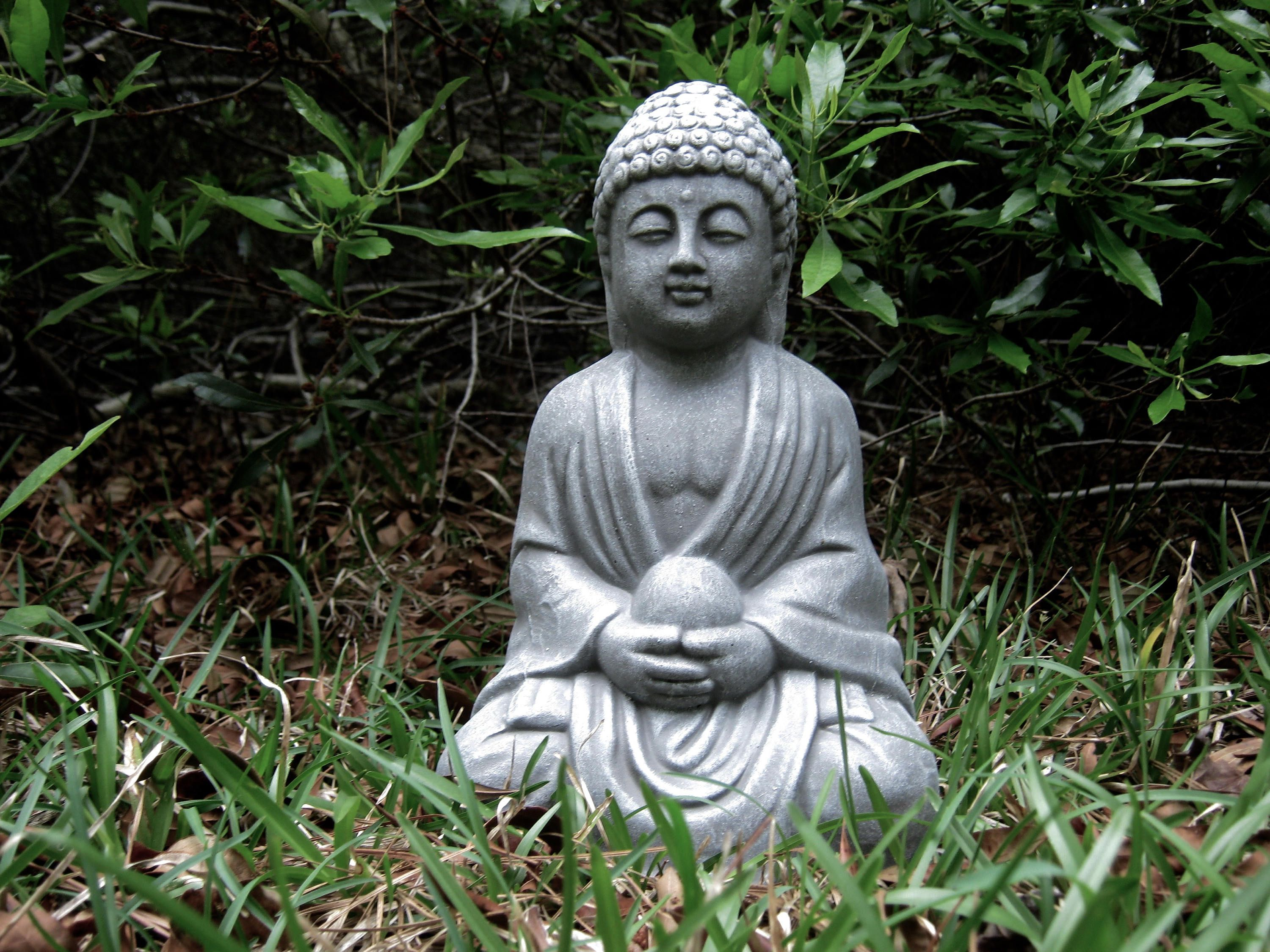 Outdoor decor statues - Buddha Statues Concrete Buddha Figure Holding Pearl Cement Outdoor Decor For Home And Garden
