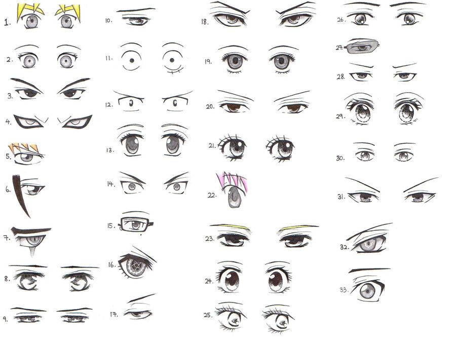 33 Manga and Anime Character Eye References by *Xin-yii on ...