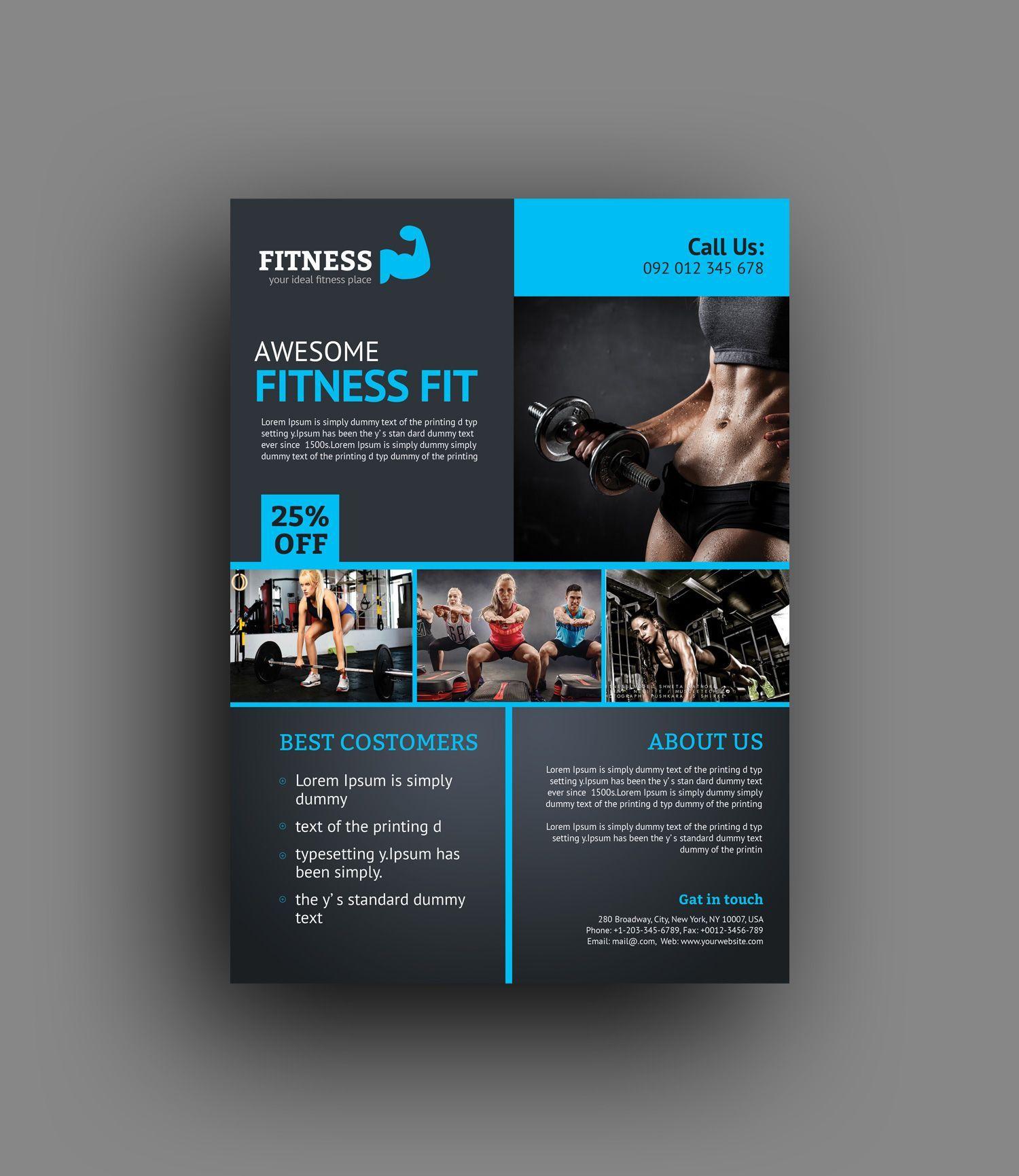 Plantilla de volante 6 Creative Fitness Center  Informations About Creative Fitness Center Flyer Tem...