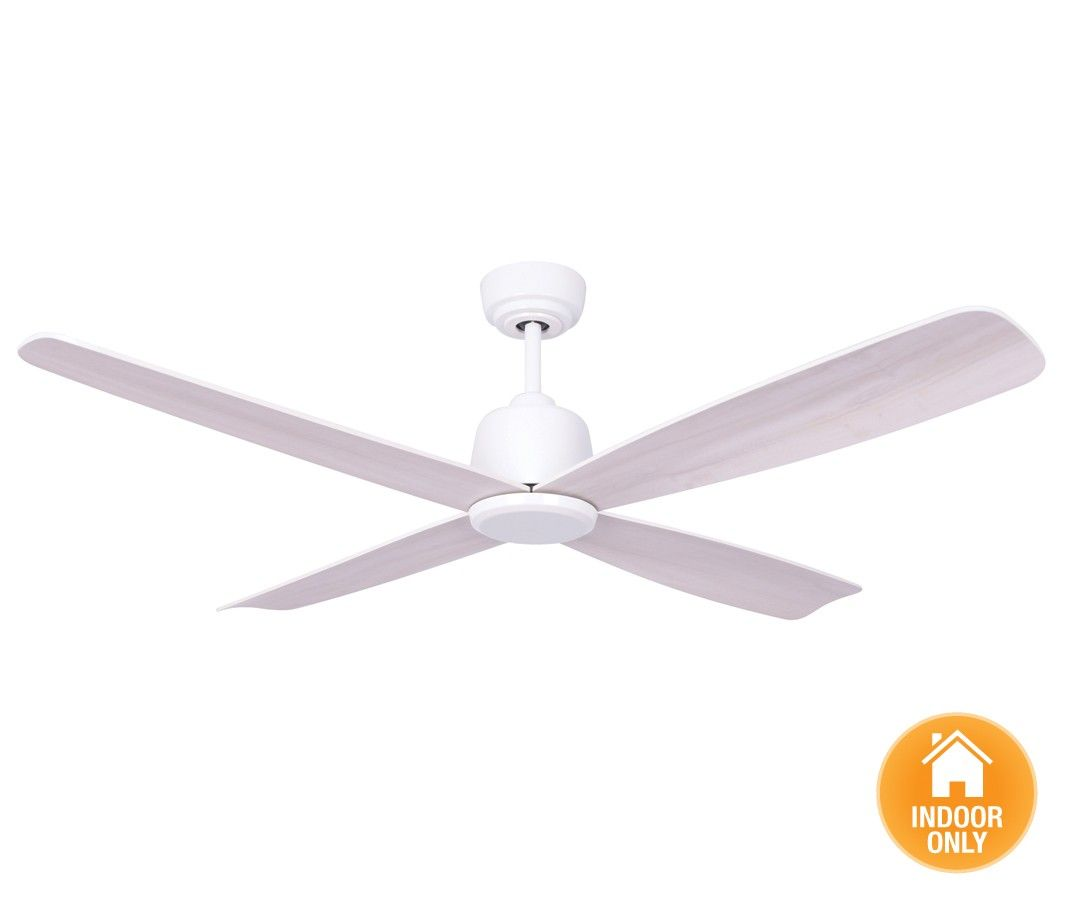 Beacon Lighting Airfusion Fraser Dc Fan Only In White With Wash Blades Complete