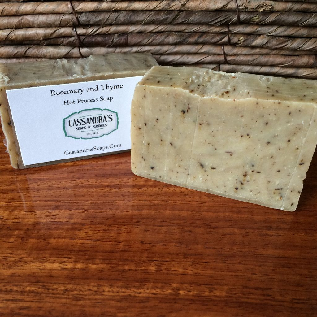 Rosemary and Thyme, Organically Made Soap, Blemish Control Soap of the week! I'm going to start a soap sale of the week and I wanted to start with one of my favorites. Rosemary and Thyme, originally 5.99.  CassandrasSoaps.Com