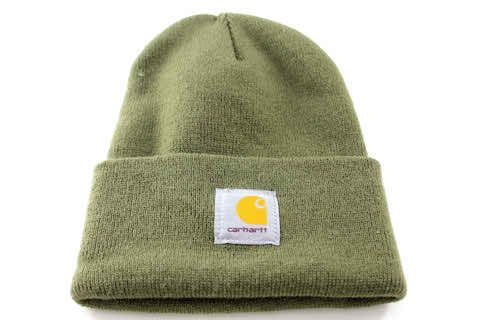 dd86f2ed8c4de Carhartt USA Cuff Ribbed Men s Women s Army Green Winter Beanie Hat - See  more at