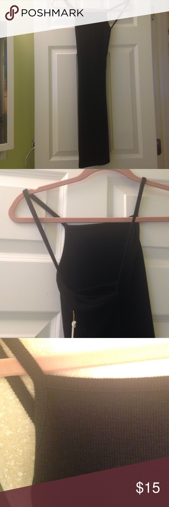 Bodycon black tank dress New never worn. Really cute and sexy..black tight and bodycon but casual material.. Comment any questions! Forever 21 Dresses