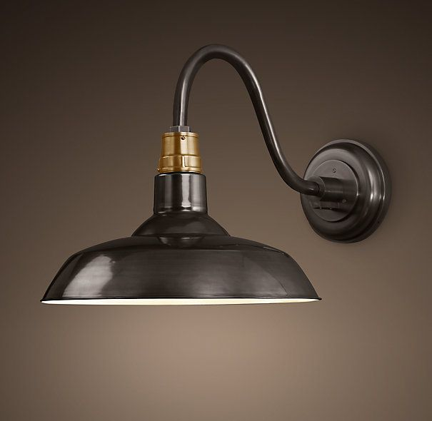 Brass Outdoor Garage Lights: Vintage Barn Sconce