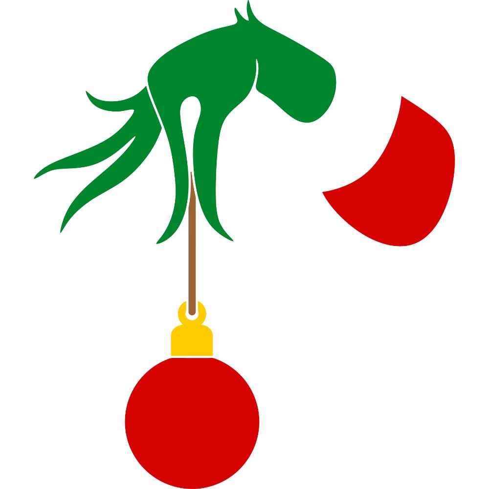 Christmas Bulb Gift Grinch Hand Svg And Christmas Bulbs Grinch Hands Christmas