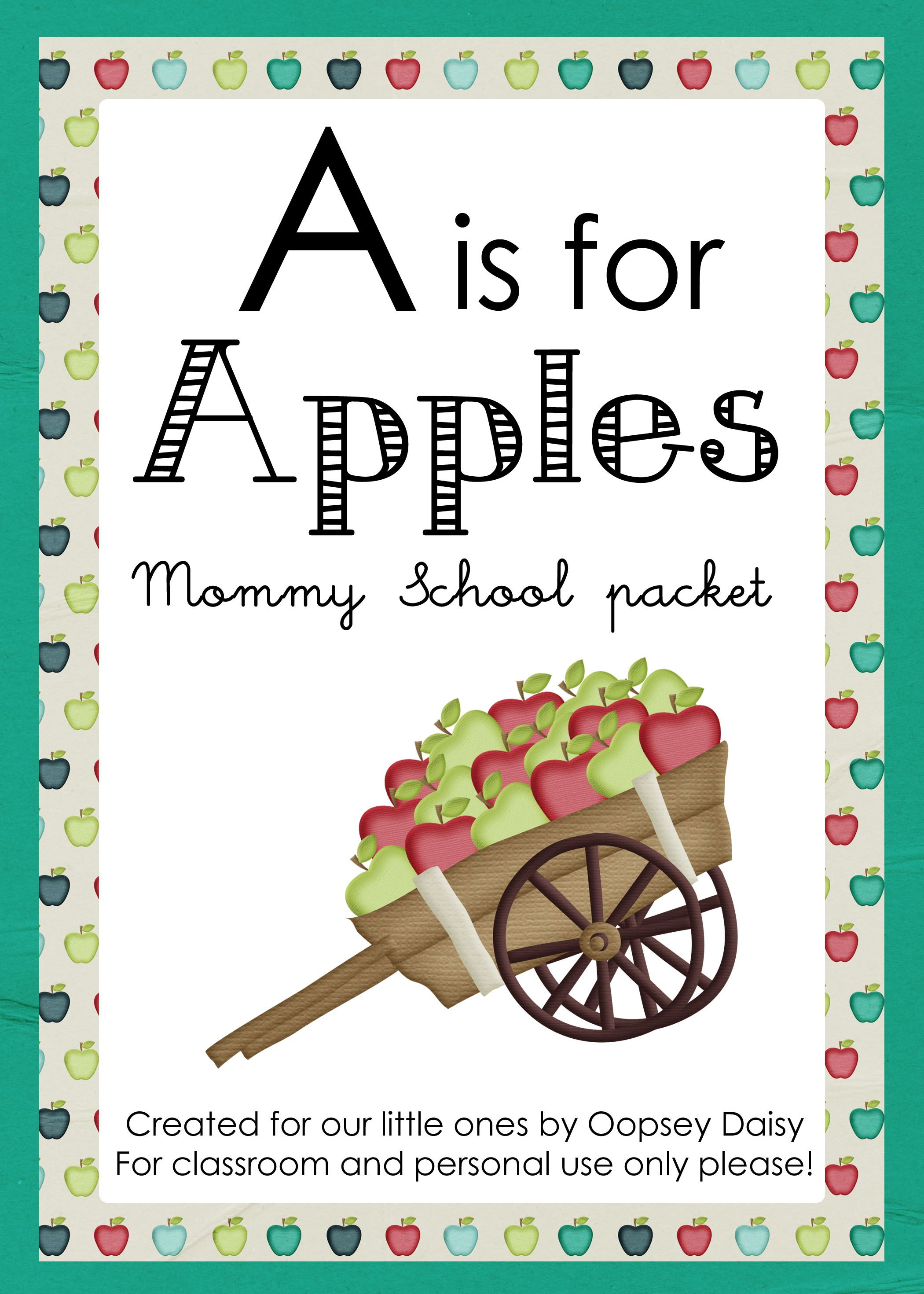 Mommy School Wonderful Packets For Each Letter With A