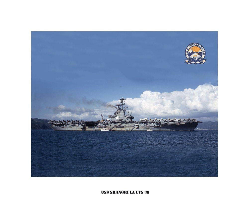USS SHANGRI LA CVA 38 USN Navy Naval Ship Photo Print
