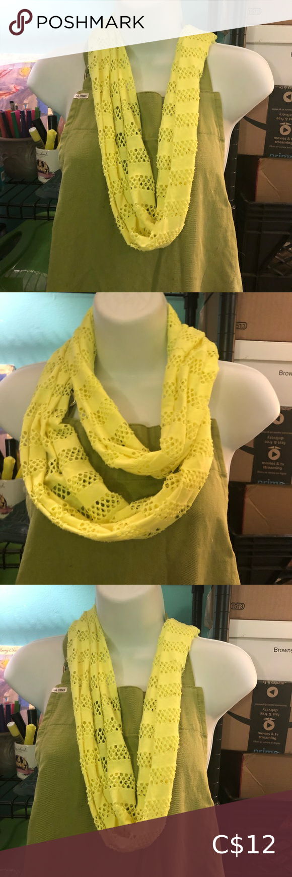Photo of Neon yellow infinity scarf
