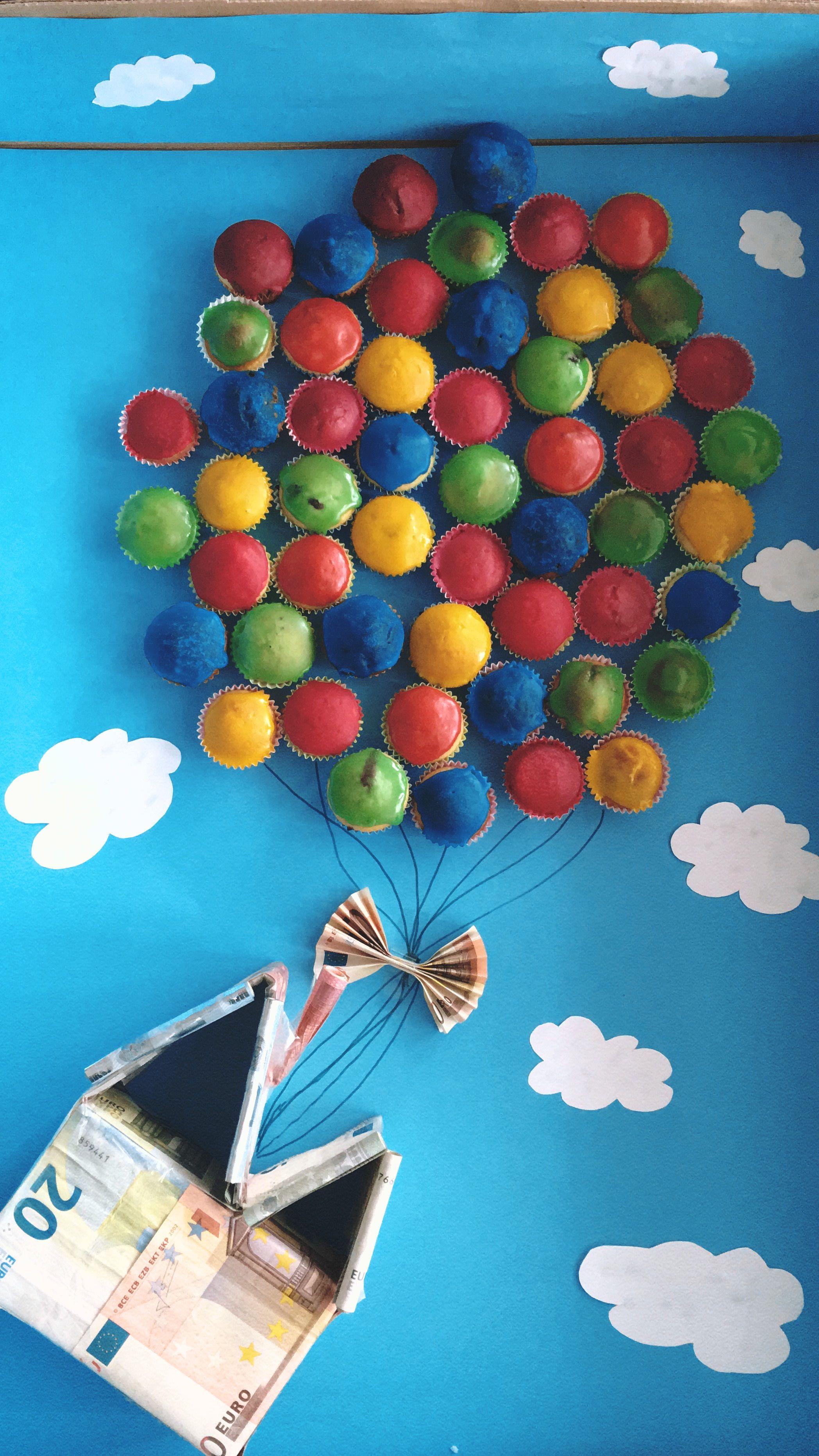 Geldgeschenk Disney Oben Geldgeschenk Disney Himmel Muffins Basteln Selfmade Oben H Geldgeschenke Hochzeit Basteln Diy Hochzeitsgeschenk Geldgeschenke
