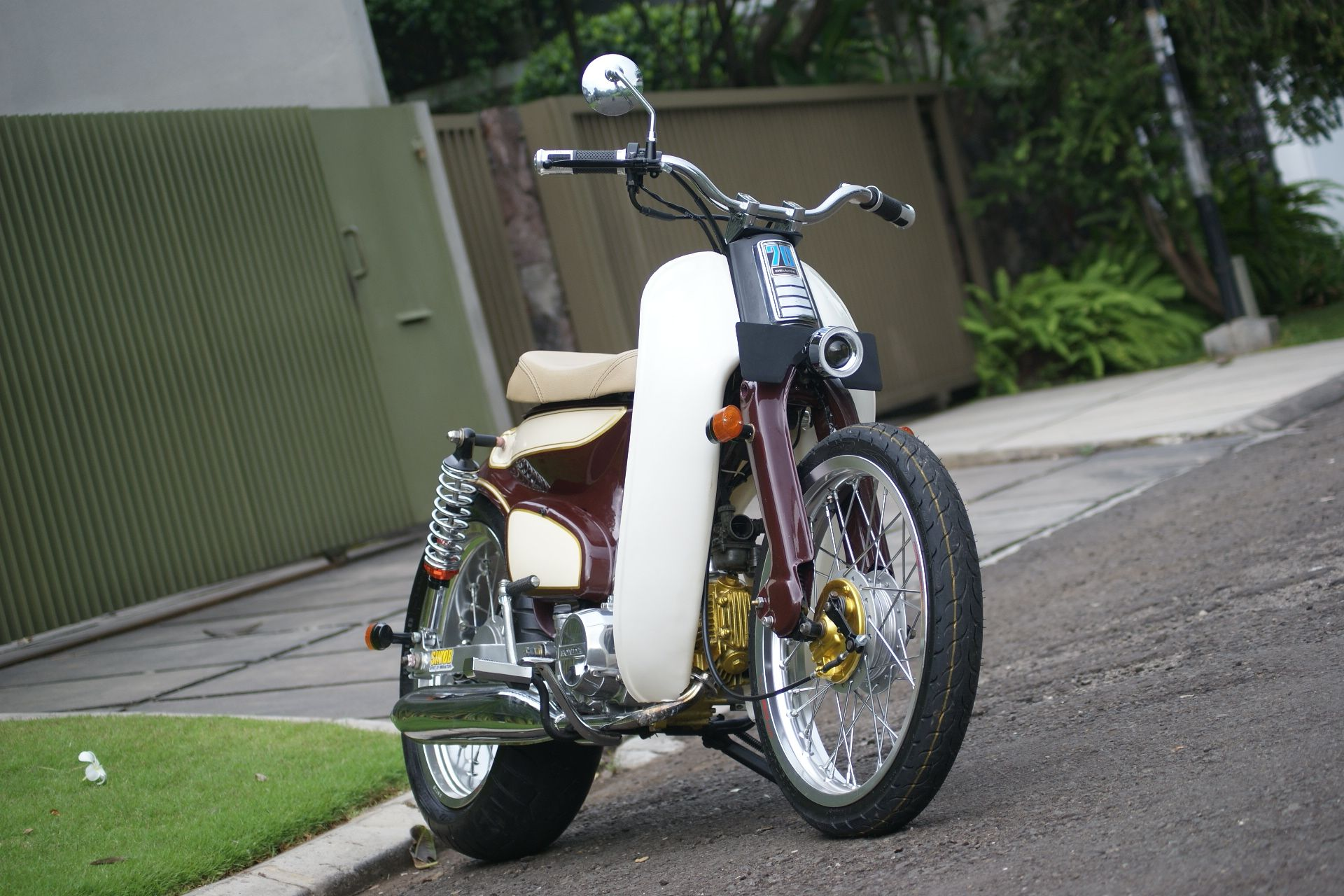 street cub by newspeed garage benzema motorcycle modification pinterest honda cub honda. Black Bedroom Furniture Sets. Home Design Ideas