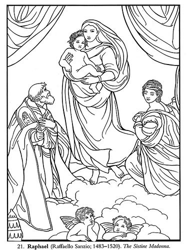 Color Your Own Italian Renaissance Masterpieces Raphael Faffaello