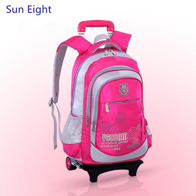 59c197baba9e Sun Eight kids trolley school bag wheels school bags for boys backpack girl  school backpack for teenagers schoolbag wheeled bag