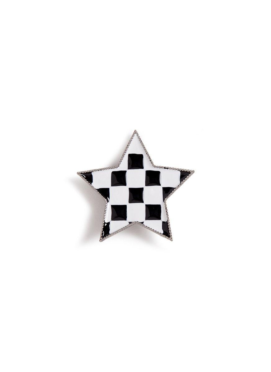 MARC JACOBS Enamel check star pin. #marcjacobs #pin