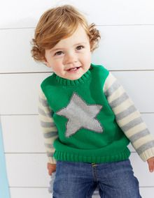 Logo Star Sweater (or navy sailboat) | Boden USA | Well isn't that adorable for boys or girls!