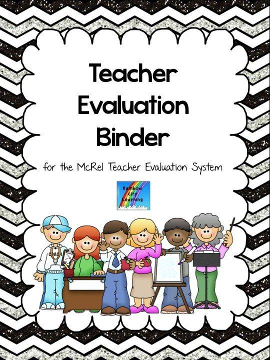 McRel System Teacher Evaluation Binder Glitter chevron - teacher evaluation