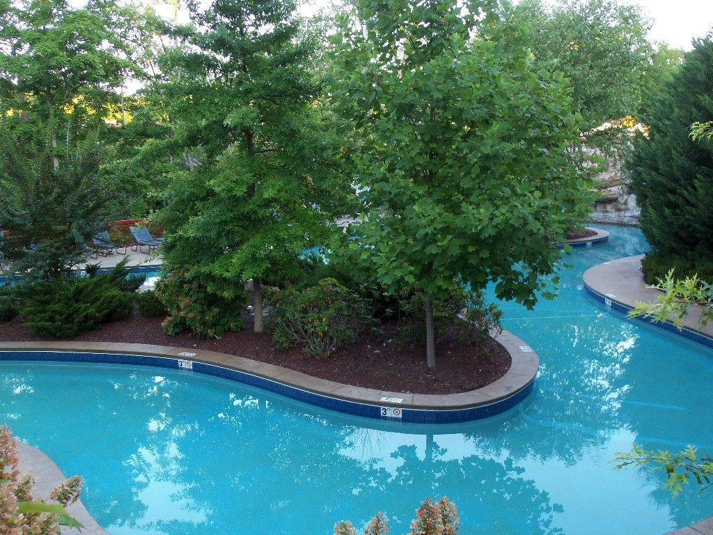 Riverstone tn lazy river with a large waterfall - Largest above ground swimming pool ...