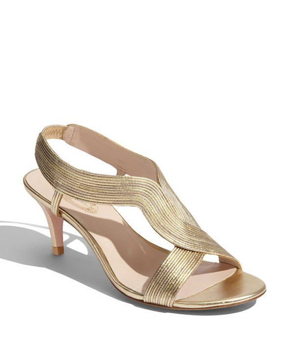 Low Maintenance Elie Tahari Shoes Bridal Shoes Low Heel Gold Strappy Sandals