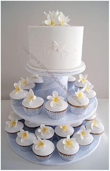 Frangipani Wedding Cupcakes Elegant Cakes Floral Sydney Modern