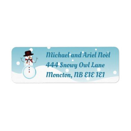 Snowman Label - holiday card diy personalize design template cyo