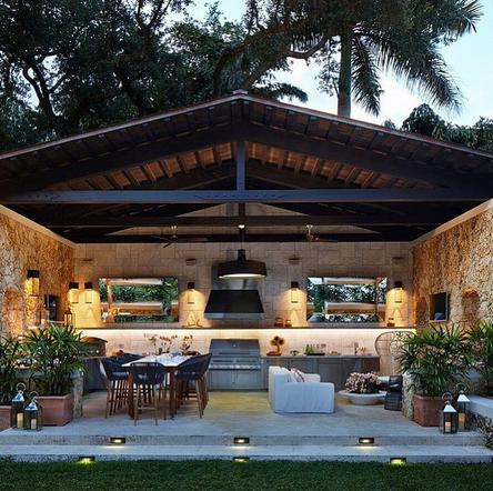 Submitted By Fetchgretch1 Nkbaoutdoorliving Luxury Outdoor Kitchen Backyard Pavilion Outdoor Kitchen Design