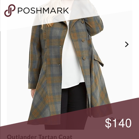 Torrid Outlander Tartan Coat size 3 Sold out online and in store! torrid Jackets & Coats Pea Coats