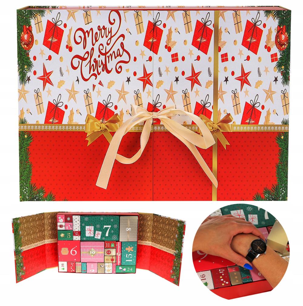 Kalendarz Adwentowy Gadzety Dla Kobiety Na Prezent Christmas Tree Skirt Holiday Decor Christmas Tree