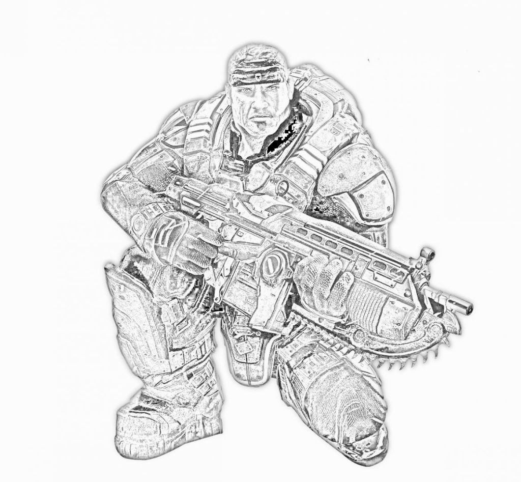 Fallout 3 coloring pages - Gears Of War Coloring Pages