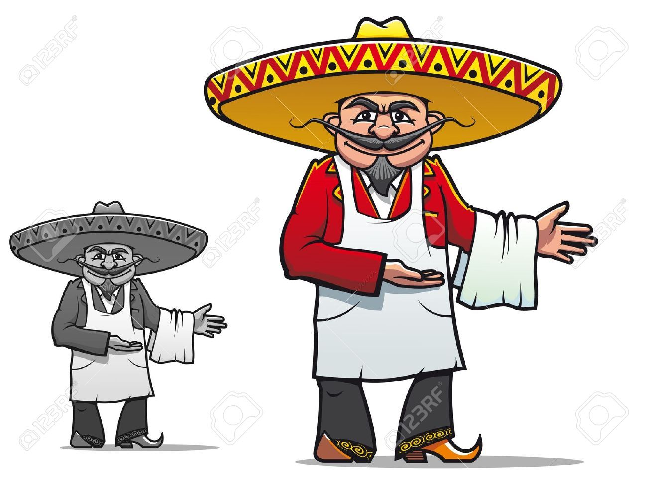 Mexican Chef In Sombrero For National Restaurant Design Royalty ...