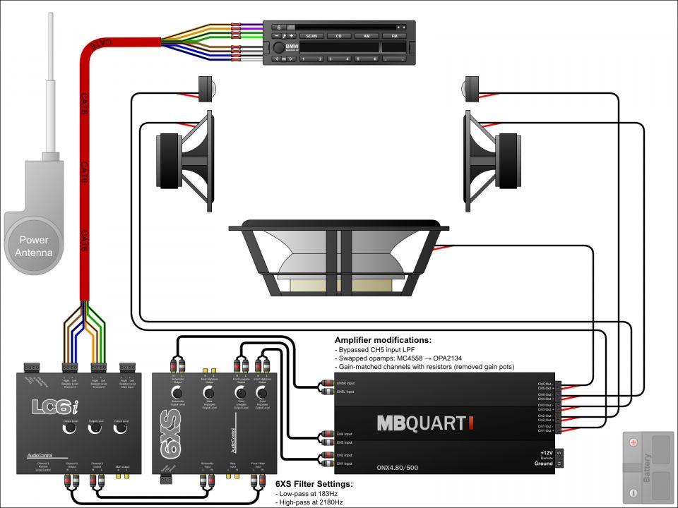 17 Basic Car Amp Wiring Diagram Car Diagram Wiringg Net Car Audio Capacitor Sound System Car Car Audio Systems