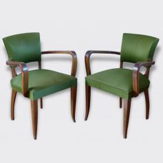 Paire de fauteuils Bridge Art Déco années 40. | Fauteuil