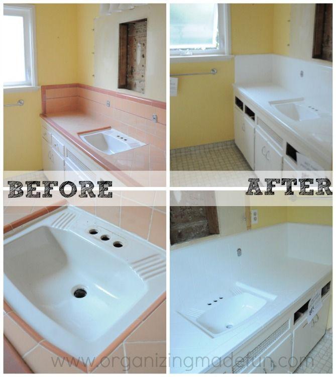 White Bathroom Tiles, Bathroom, Bathroom Countertops