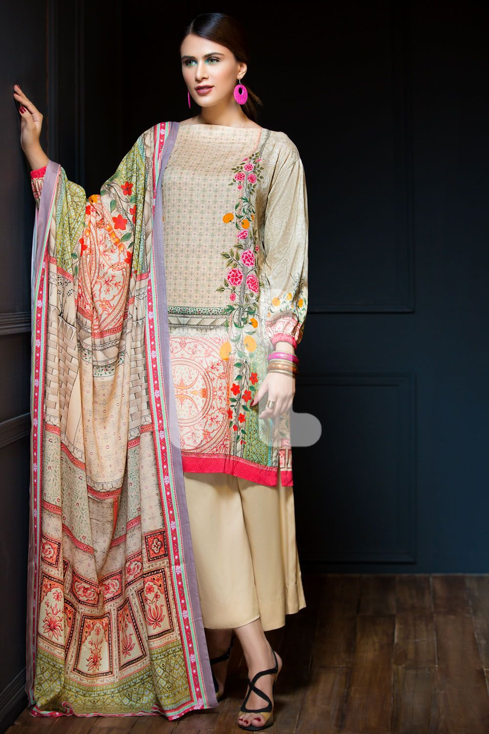 a861bdd2b4a Unstitched 3 Piece Linen Pakistani Dress On Sale To Buy Online By Nishat  Linen Winter Collection 2018 At A Discount  springcollection  spring   readytowear ...