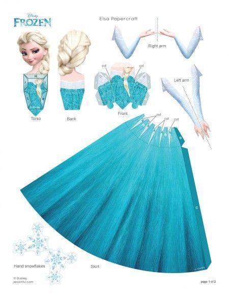 Como fazer uma fantasia de Elsa de Frozen - 8 passos | Papiermodelle ...