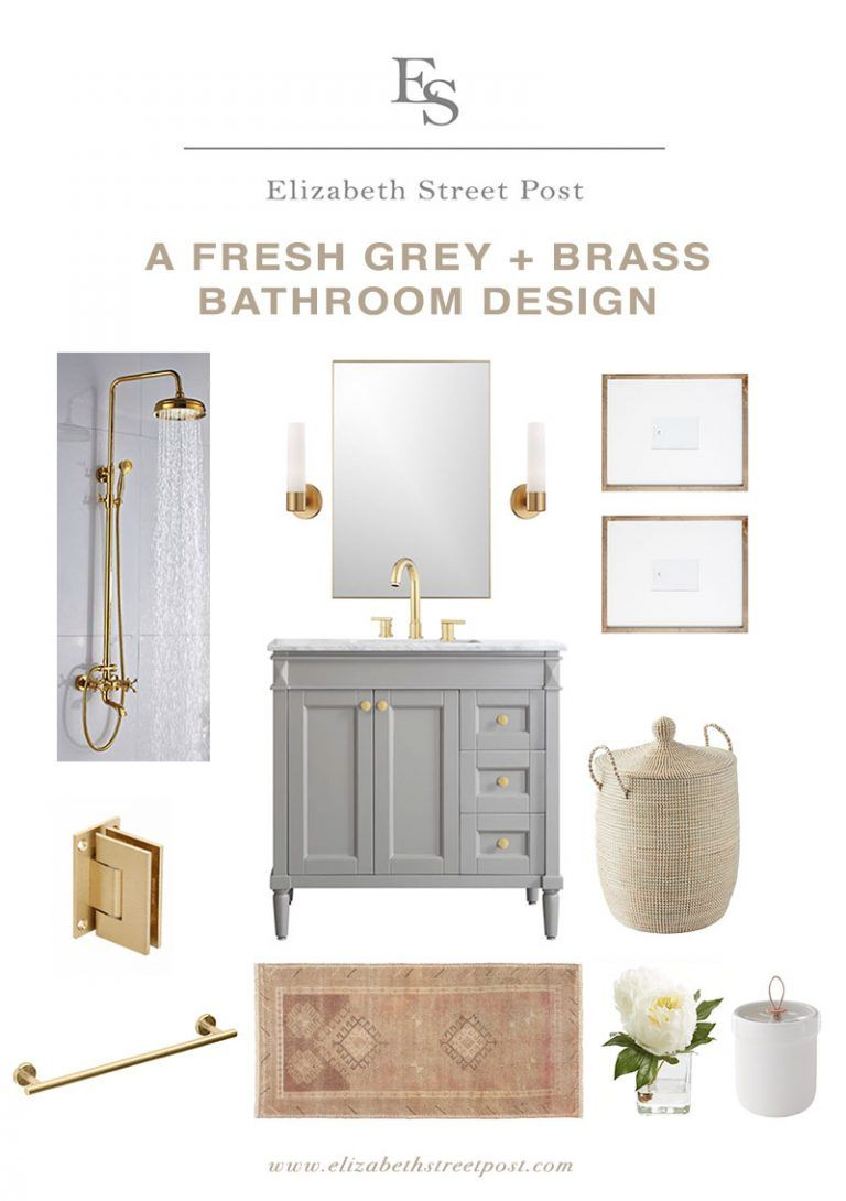 Design Files: 16 Bathrooms That Get Gold Hardware Right - Elizabeth Street Post