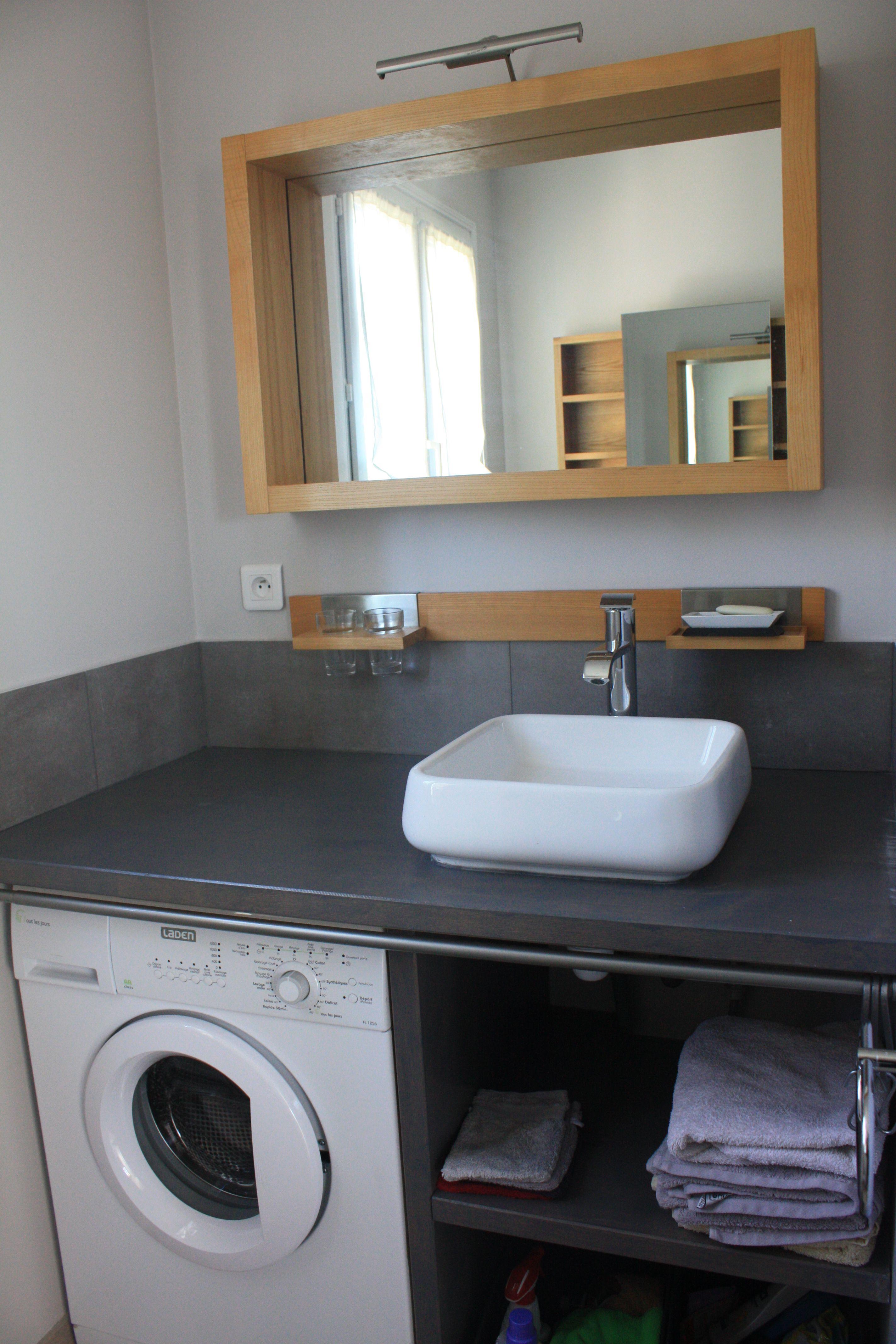 Salle De Bain Comprenant Vasque Douche Wc Lave Linge Rangement Linge De Toilette Salle De Bain Design Idee Salle De Bain Meuble Salle De Bain