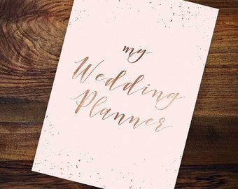 Printable Wedding Planner Book Journal Organizer Pdf