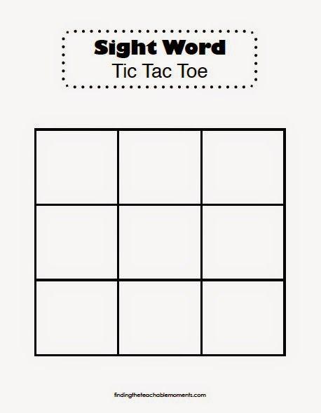 Wordtictactoess Jpg 458 590 Pixels Teaching Sight Words Sight