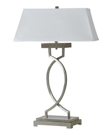 Look what I found on #zulily! Brushed Steel Table Lamp #zulilyfinds