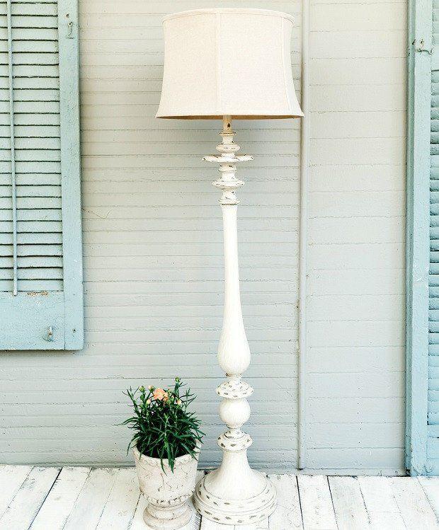 TALL Shabby Chic Floor Lamp