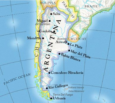 south america map rio de la plata Uruguay In South America With Coast To The Rio De La Plata And
