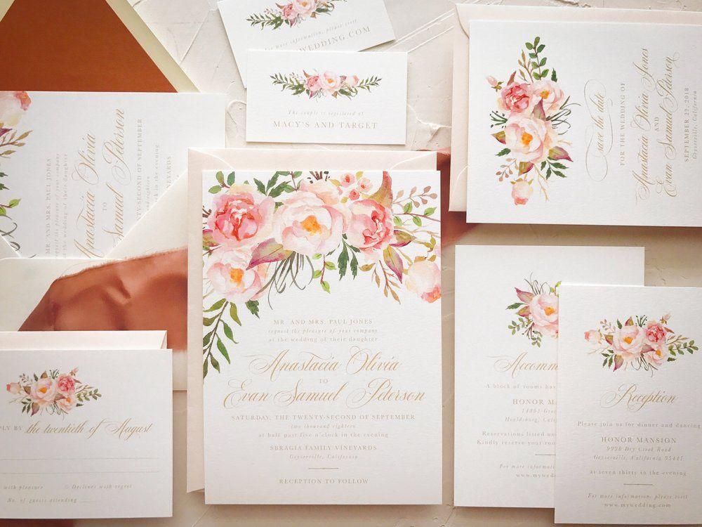Blossom invitation sample kit accommodations card response cards blossom invitation sample kit stopboris Choice Image