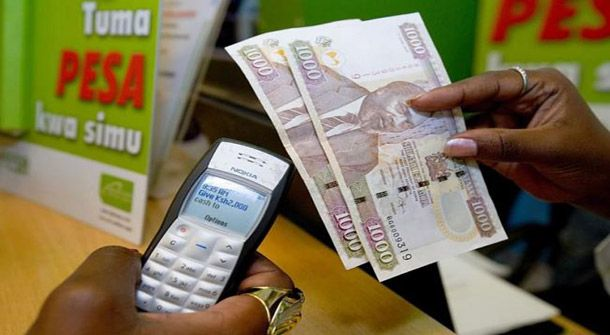 "MPESA is ""a service that allows you to transfer money"