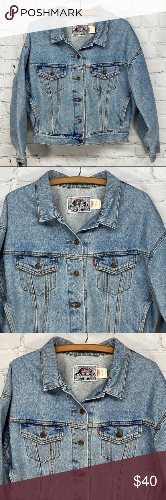 Vintage Levi S Stonewash Trucker Denim Jean Jacket Denim Jean Jacket Jackets Denim Wash