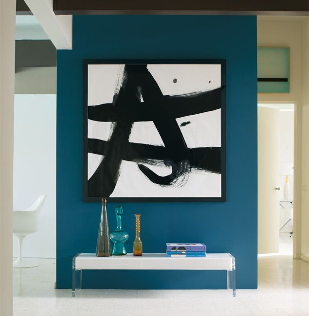A Fresh Look At Monochromatic Blue Accent Walls Blue
