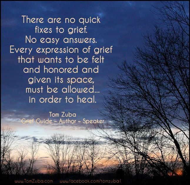 There Are No Quick Fixes To Grief No Easy Answers Every
