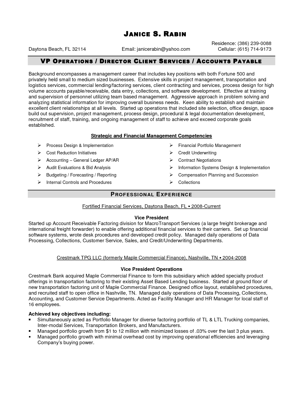 Management Resume Senior Logistic Management Resume  Senior Logistics Finance