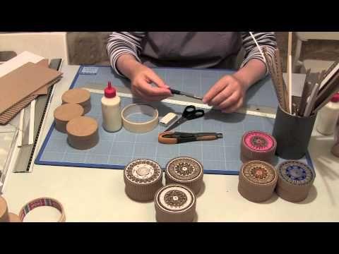 ▶ Comment faire des boites en marqueterie de carton? - YouTube