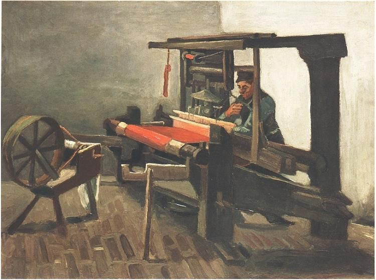 Vincent Van Gogh Weaver Facing Left With Spinning Wheel Painting Van Gogh Arte Pintor Van Gogh Pinturas
